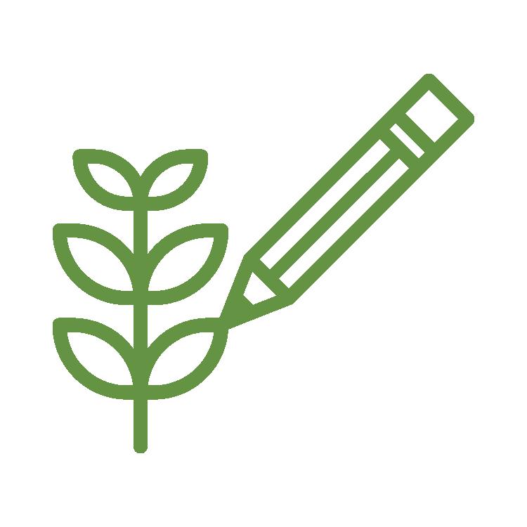 Objetivo 3 do SISDIA - contorno na cor verde folha de uma lupa com um ramo de folha