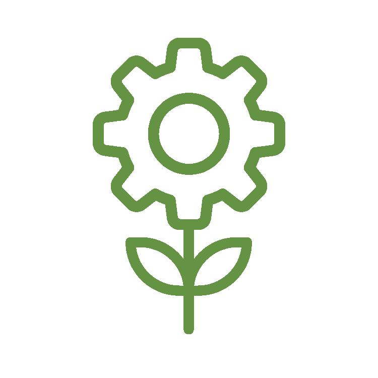 Objetivo 2 do SISDIA - tracejado na cor verde folha, ícone de pasta com ramo de folha dentro